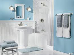 Wainscoting Ideas Bathroom by Bathroom Comfortable Bathroom Design Light Blue Wall Color Ideas