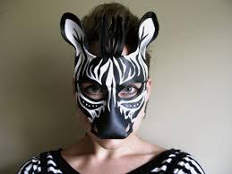 halloween mask costumes zebra leather mask child or sizes available