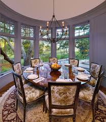 54 inch round dining room traditional with curved wall wood
