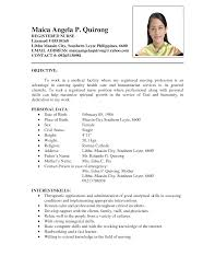 Nursing Student Sample Resume sample objective resume for fresh graduate virtren com