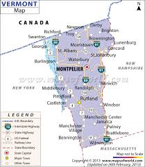 United States Map Major Cities by List Of Universities In Vermont Map Of Vermont Universities And