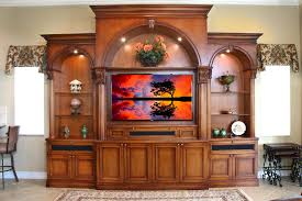 Traditional Entertainment Centers Family Room Traditional With - Family room wall units