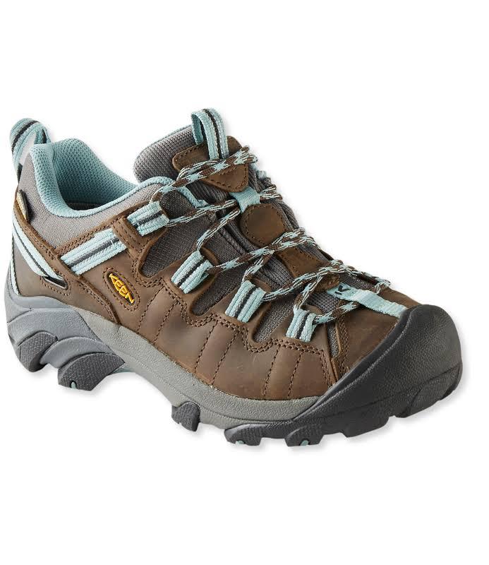 KEEN Targhee Ii Waterproof Hiking Boots Black Olive/Mineral Blue 8 US 1012244-4-8