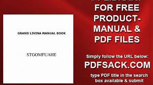 grand livina manual book video dailymotion
