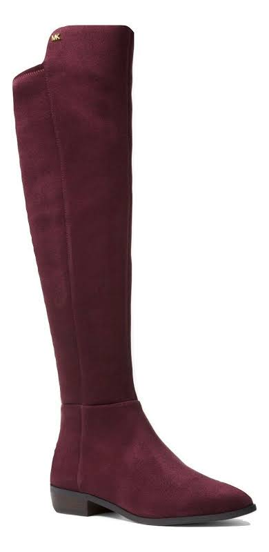 Michael Kors Bromley Leather Closed Toe Over Knee, Damson,