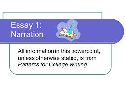 The narrative essay powerpoint presentations Pinterest