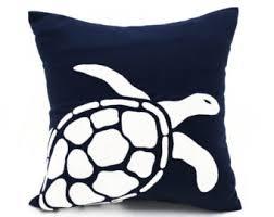 Sea Turtle Home Decor Custom Sea Turtle Pillow Beach Decor Pillow Sea Life Pillow