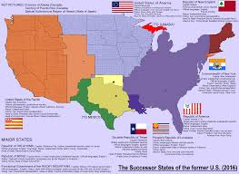 A Map Of America by A Map Of The Ex American Successor States Inspired By My Latest