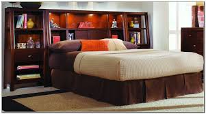 King Headboard Bedroom King Size Bed Frame With Bookcase Headboard Bookcase