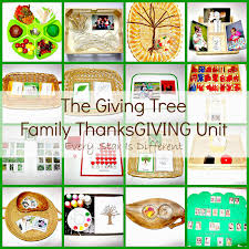 thanksgiving vocabulary pictures the giving tree family thanksgiving unit every star is different