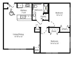 Two Bedroom Apartment Floor Plans 3 Bedroom 2 Bath Apartment Floor Plans