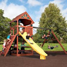 Cedar Playsets Backyard Adventures Wooden Playsets Wooden Gym Sets American Sale