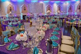 Black Blue And Silver Table Settings Purple And Turquoise Wedding Centerpieces Purple U0026 Turquoise