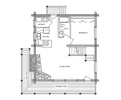 1 Bedroom Log Cabin Floor Plans by Log Home Floor Plan Rocky Mountain