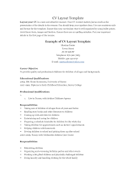 View Resume Samples by Cv Personal Statement Childcare