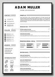 Free Resume Templates  Graphic Designer Resume Template Vector Free Download  Throughout Designer Resume Templates    LearnHowToLoseWeight net