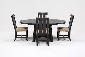 Five Piece Dining Room Sets Jaxon 5 Piece Extension Round Dining Set W Wood Chairs Living Spaces