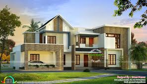 mix roof style modern house in 400 sq yd kerala home design and
