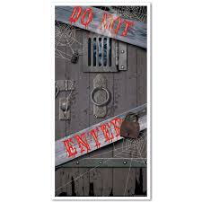 amazon com haunted halloween door cover party accessory 1 count