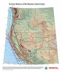 Map For United States by Exploring Tectonic Motions Of Alaska U0026 Western United States