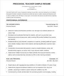 Lead Teacher Resume   Resume Format Download Pdf