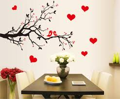 aliexpress com buy fashion red love heart wall stickers home