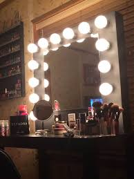 vanity makeup mirror with light bulbs design doherty house
