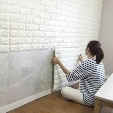 white 3d embossed brick stone wall sticker waterproof foam white 3d embossed brick stone wall sticker waterproof foam wallpaper home decor