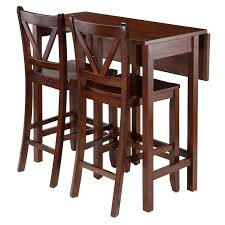 Patio Furniture Counter Height Table Sets - winsome trading lynnwood 3 piece counter height dining table set