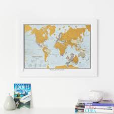 World Map Pinboard by Personalised Street Map Print Gifts Notonthehighstreet Com