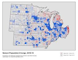Map Of Iowa State by Components Of Population Change In The Midwest 2010 16 Iowa