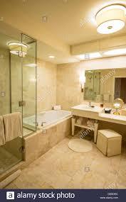 luxurious bathroom in a wynn hotel room in las vegas stock photo