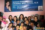 Apresiasi relawan, Venna Melinda kunjungi komunitas anak jalanan
