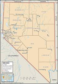 New Mexico County Map State And County Maps Of Nevada
