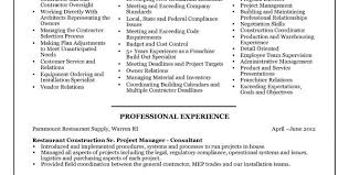 Inventory Specialist Resume Sample by Construction Project Manager Resume Examples Photo Construction