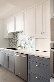 interior design simple white kitchen cabinets with mosaic tile