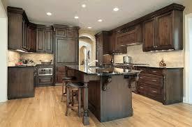 Dark Kitchen Cabinets With Backsplash Wall Color For Dark Kitchen Cabinets Upholstered Bar Stool Orange