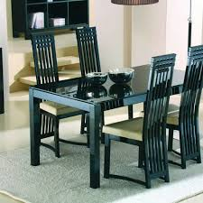 Black Dining Table And  Chairs  SL Interior Design - Black dining table for 4