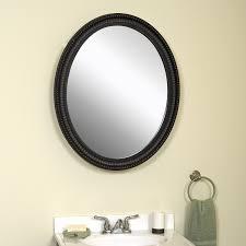 Mirrored Medicine Cabinet Doors by Amazon Com Zenith Pmv2532bb Oval Mirror Medicine Cabinet