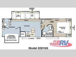 Fifth Wheel Bunkhouse Floor Plans New 2011 Forest River Rv Rockwood Signature Ultra Lite 8281ss