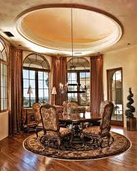 recessed dome ceiling in the breakfast area remove the brass