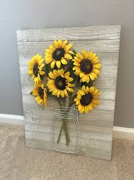 sunflower string art bouquet crafty pinterest sunflowers