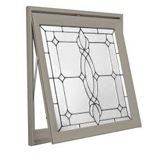 hy lite 28 5 in x 28 5 in decorative glass awning vinyl window