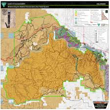 Colorado Unit Map by Mcinnis Canyons National Conservation Area Mcnca Travel Map