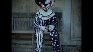 killer clown costume spirit halloween sitting scare clown spirit halloween youtube