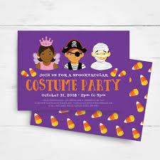 halloween invitation template kids halloween party invitation