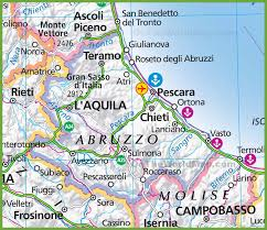 Italy Region Map by Large Map Of Abruzzo
