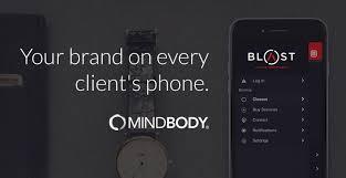 MINDBODY  Payment Processing Mobile screen displaying Umbrella branded app