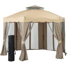Replacement Canopy Covers by Patios Using Stunning Garden Winds Gazebo For Cozy Outdoor