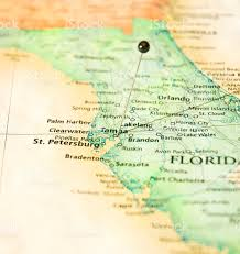 Map Of Lakeland Florida by Map Of West Florida Coastline St Petersburg And Tampa Stock Photo
